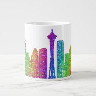 Horizonte de Seattle Taza Grande