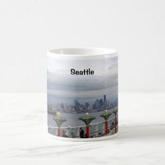 Horizonte de Seattle Tazas