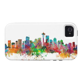 Horizonte de Seattle Washington Case-Mate iPhone 4 Fundas