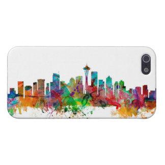 Horizonte de Seattle Washington iPhone 5 Fundas