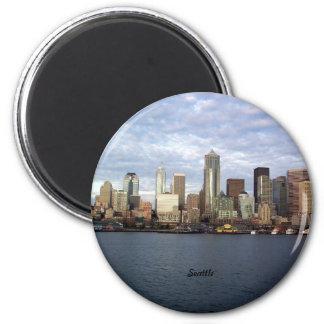 Horizonte de Seattle, Washington Imán Redondo 5 Cm