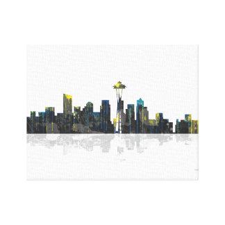 Horizonte de Seattle Washington Lona Estirada Galerías