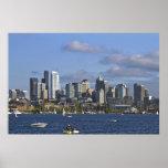 Horizonte de Seattle Washington por el poster de l