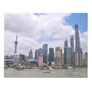 Horizonte de Shangai, China Bloc De Notas