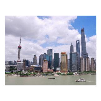 Horizonte de Shangai, China Postal