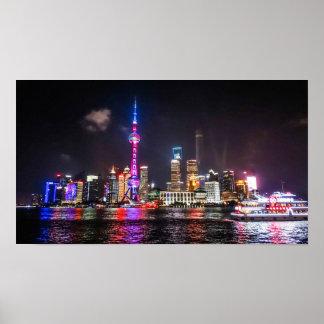 Horizonte de Shangai Poster