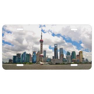 Horizonte de Shangai por día Placa De Matrícula