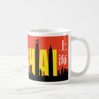 Horizonte de Shangai Tazas