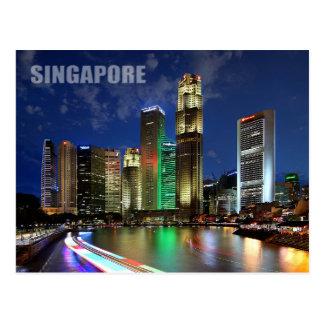 Horizonte de Singapur del puente de Elgin Postales