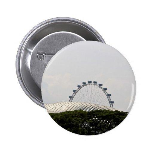 Horizonte de Singapur incluyendo el paso elevado d Pins