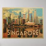 Horizonte de Singapur Poster