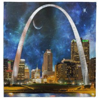 Horizonte de Spacey St. Louis Servilletas Imprimidas