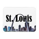 Horizonte de St. Louis Missouri con St. Louis n el Imán Rectangular