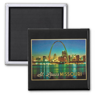 Horizonte de St. Louis Missouri Imán Cuadrado