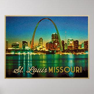 Horizonte de St. Louis Missouri Poster