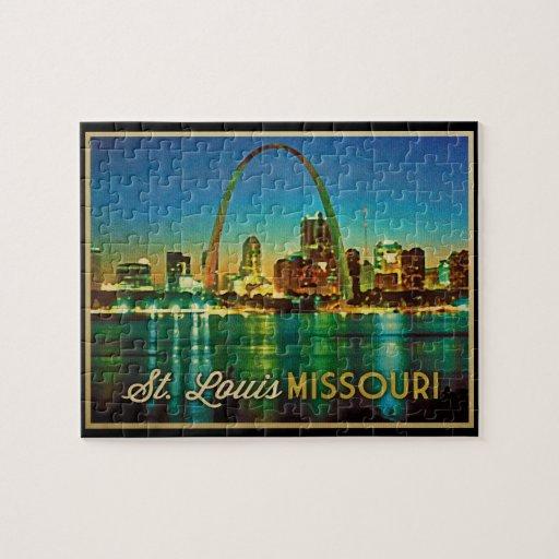 Horizonte de St. Louis Missouri Puzzles Con Fotos