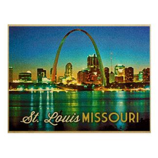 Horizonte de St. Louis Missouri Tarjetas Postales