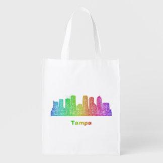 Horizonte de Tampa del arco iris Bolsa Para La Compra