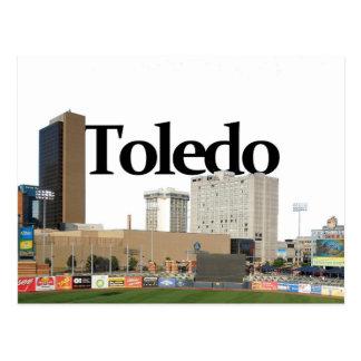Horizonte de Toledo Ohio con Toledo en el cielo Postales
