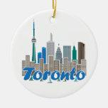 Horizonte de Toronto Adorno Navideño Redondo De Cerámica