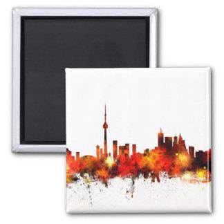 Horizonte de Toronto Canadá Imán Cuadrado
