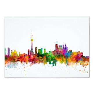 """Horizonte de Toronto Canadá Invitación 5"""" X 7"""""""