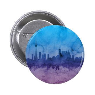 Horizonte de Toronto Canadá Pin Redondo De 2 Pulgadas