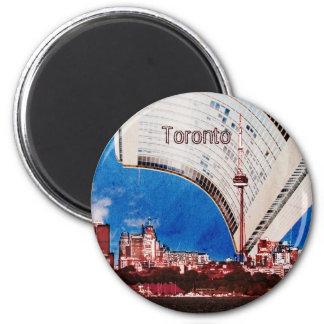 Horizonte de Toronto con el imán del edificio del