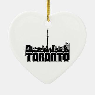 Horizonte de Toronto Adorno De Cerámica En Forma De Corazón