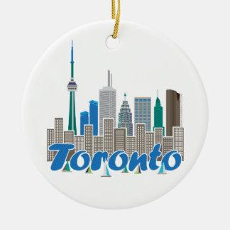 Horizonte de Toronto Adorno De Navidad