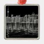 Horizonte de Toronto en blanco y negro Ornamento Para Reyes Magos