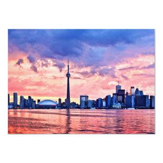 Horizonte de Toronto Invitación 12,7 X 17,8 Cm