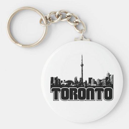 Horizonte de Toronto Llavero Redondo Tipo Pin