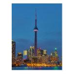 Horizonte de Toronto Ontario Canadá en la noche Postal