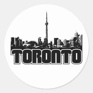 Horizonte de Toronto Pegatina Redonda