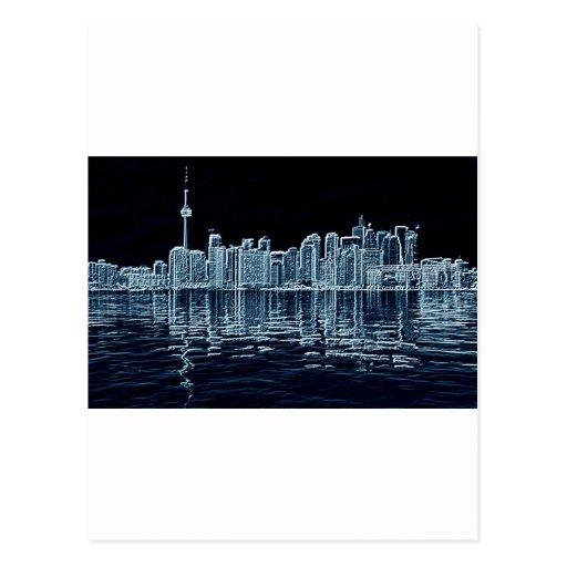 Horizonte de Toronto Tarjeta Postal