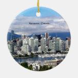 Horizonte de Vancouver Canadá Adorno Redondo De Cerámica