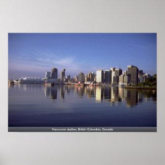 Horizonte de Vancouver, Columbia Británica, Canadá Impresiones