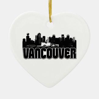 Horizonte de Vancouver Adorno De Cerámica En Forma De Corazón