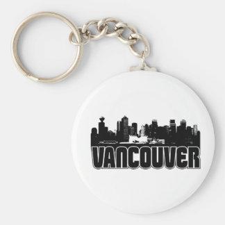 Horizonte de Vancouver Llavero Redondo Tipo Pin