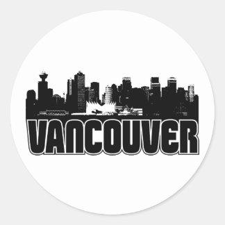 Horizonte de Vancouver Etiqueta Redonda