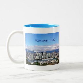 Horizonte de Vancouver Tazas De Café