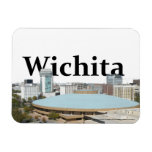 Horizonte de Wichita Kansas con Wichita en el Iman De Vinilo