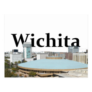 Horizonte de Wichita Kansas con Wichita en el Postales