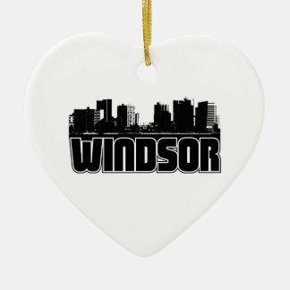Horizonte de Windsor Adorno De Cerámica En Forma De Corazón