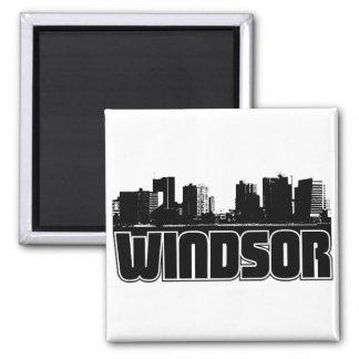 Horizonte de Windsor Imán Cuadrado