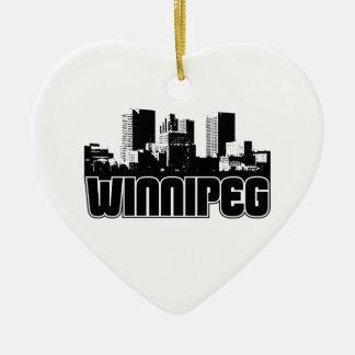 Horizonte de Winnipeg Adorno De Cerámica En Forma De Corazón