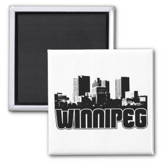 Horizonte de Winnipeg Imán Cuadrado