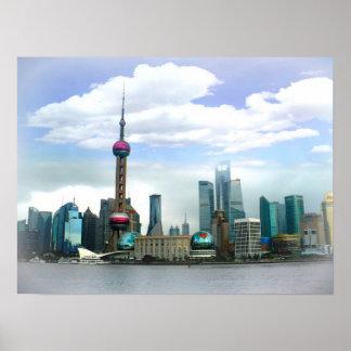 Horizonte del 上海 de Shangai - la Federación Póster