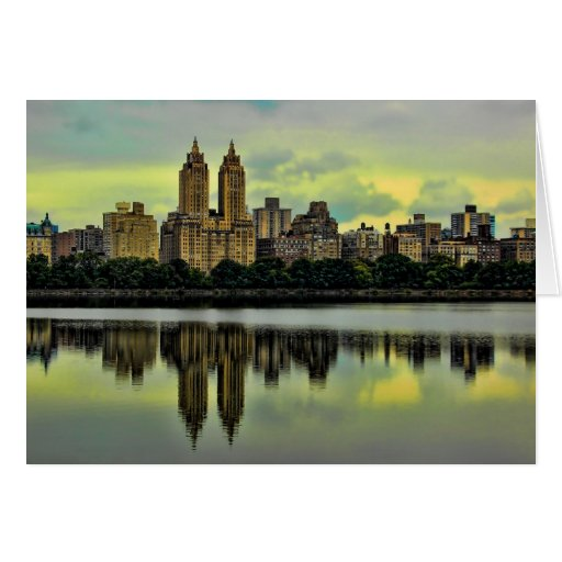 Horizonte del Central Park de New York City Tarjeta Pequeña